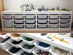 easy lego storage An Imposing Collection of 23 Lego Storage Ideas