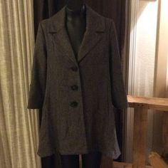 CAbi Jackets & Blazers - CAbi style 169 size 4 Tweed wool blend a line coat