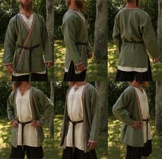 Linen viking age kaftan. Hand sewn by Henrik Nordholm.  https://www.facebook.com/pages/Henrik-Nordholm/254634504677319?ref_type=bookmark