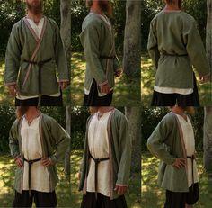 Linen viking age kaftan. Hand sewn by Henrik Nordholm.  https://www.facebook.com/pages/Henrik-Nordholm/254634504677319?ref_type=bookmark