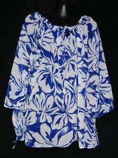 Womens Large Blouse NEW Mark Zunino Large Top Sheer ~~~$19.99
