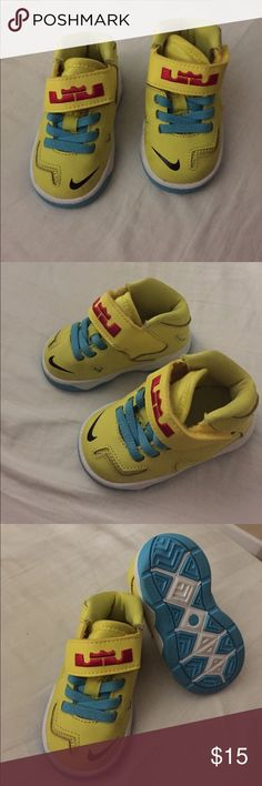 Baby shoes Nike Lebron James shoes. Worn once. No box Nike Shoes Sneakers