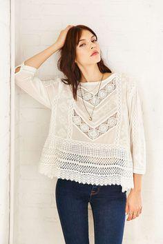 Kimchi Blue Emily Babydoll Shirt - Urban Outfitters
