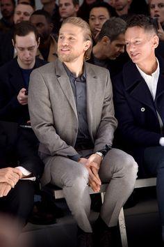 Charlie Hunnam Photos: CALVIN KLEIN COLLECTION - Front Row - Milan Menswear Fashion Week Fall Winter 2015/2016
