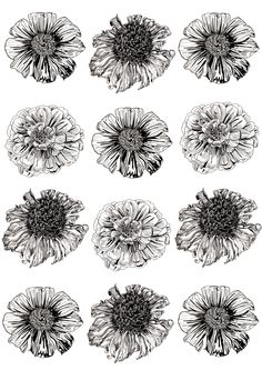 ink flower design