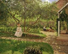 Camille Pissarro - Coin de jardin à Eragny                                                                                                                                                                                 Plus
