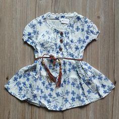 Mrjmsl baby dress para el bebé ropa de las muchachas de flores de manga corta vestidos de verano con la correa