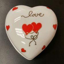 Lefton Bone China Heart Love jewelry Trinket Box