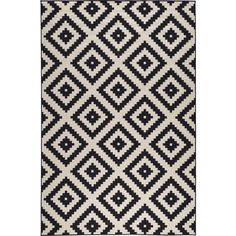 Lljung Ruta 9 99 Liked On Polyvore Featuring Rugs Ikea Home Black White