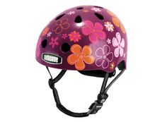 Purple pedals helmet