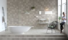 Mosa produceert badkamer tegels volgens het Cradle-to-Cradle concept op basis van onbeperkt hergebruik van grondstoffen.