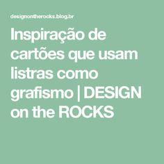 Inspiração de cartões que usam listras como grafismo | DESIGN on the ROCKS