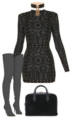 """Untitled #1505"" by antoniajulia on Polyvore featuring Balmain"