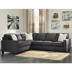 Shop for the Signature Design by Ashley Alenya - Charcoal Sectional with Right Loveseat at Furniture Superstore - Rochester MN - Your Rochester ...  sc 1 st  Pinterest : ashley furniture grenada sectional - Sectionals, Sofas & Couches