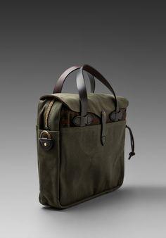 //\\ FILSON Original Briefcase Twill Tweed in OT - Filson