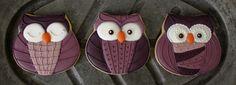 Klickitat Street: Patterned Owl Cookies