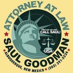 Saul Goodman Attorney at Law #breakingbad