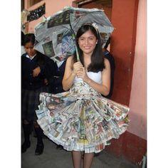 ropa reciclada de papel