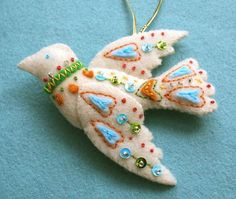 felt ornament by mmmcrafts, via Flickr
