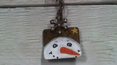 Snowman on snow shovel by AldridgeArtistry on Etsy