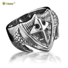Bahamut 925 Silver The Crusades Sword Cross Ring $65.00