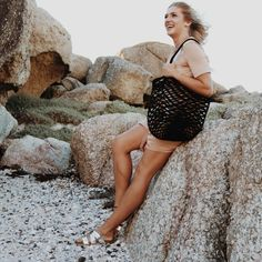 Make a statement at the beach or even at your local market with our unique net bag! Made from 100% cotton rope, our net bags are durable and expand as more goods are placed in the bag.   Mia Mélange bags are made from 100% cotton rope which we carefully sew together in a coiling technique. The cotton is grown locally in South Africa by farmers who are members of the Better Cotton Initiate (BCI). Net Bag, Cotton Rope, Farmers, South Africa, Sequin Skirt, Sewing, Beach, Unique, Fashion