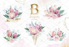 Dreams collection. Gold protea - Illustrations - 3