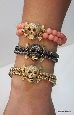 Hey...every girl needs to show their love for skulls in their jewelry right?
