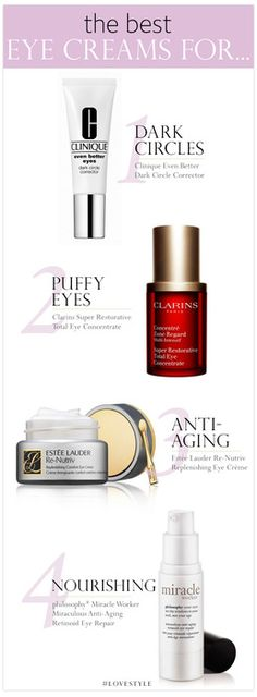 The top 4 products for preventing dark circles beneath your eyes.