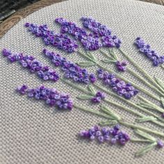 Embroidery hoop art bouquet of lavender, Hand embroidered blooming flowers gift, Framed floral wall art, Botanical hand stitched wall decor – crafts gifts French Knot Embroidery, Embroidery Flowers Pattern, Embroidery Hoop Art, Hand Embroidery Designs, Ribbon Embroidery, Embroidery Ideas, Embroidered Flowers, Floral Embroidery, Japanese Embroidery