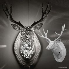 """""""Deer"""" from animal lacelamp collection inspired by hunting trophies. #lighting #homedecor"""