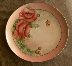 """12"""" Vintage Hand Painted Signed Plate Charger Gorgeous Poppies   eBay 769 x 703"""