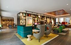 The Historical Heart of Amsterdam Welcomes CitizenM Amstel in Nineteen-Twenties Former Bank Building Historical Architecture, Interior Architecture, Interior Design, Richard Powers, Amsterdam School, Breakout Area, Banks Vault, Banks Building, Hotel Interiors