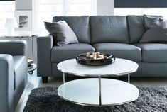 IKEA Grey Leather Sofas
