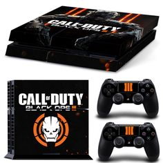 FREE SHIPPING! PS4 Call of Duty Black Ops 3 NEW Gamer Decal Stickers For Sony Playstation 4 Console  2 Stick (Play Station 4)