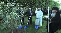 Presidentes de Palestina e Israel plantan un olivo de la paz en el Vaticano