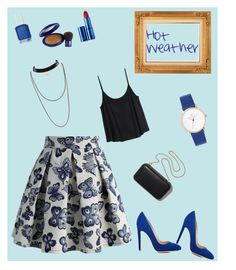 """""""Summer02"""" by irma-salkic ❤ liked on Polyvore featuring H&M, Gianvito Rossi, Chicwish, Clare V., Essie, Elizabeth Arden and Lipstick Queen"""