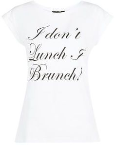 Womens white i brunch t-shirt from New Look - £7.99 at ClothingByColour.com