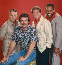 Magnum P.I. Tom Selleck & cast