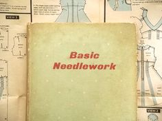 1960s dressmaking book Basic Needlework by by EAGERforWORD on Etsy