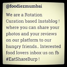 Thats what we are ;) full of #foodbloggers #foodloversand #food #photographers in short we are some hungry people who share our plate with everyone to taste and to take their views abt it ! Be a part of this oversized tummy and share your #photos and #reviews on our fb page inbox. #EatShareBurp ! #foodiezmumbai #hungry #mumbai #street #food #cuisine #taste #recipe #plate #eat #yummy #hogger