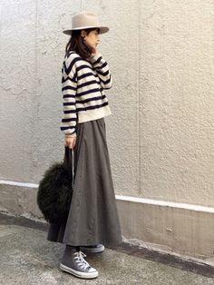 Skirt Fashion, Hijab Fashion, Love Fashion, Korean Fashion, Autumn Fashion, Fashion Outfits, Womens Fashion, Minimalist Fashion Women, Minimal Fashion