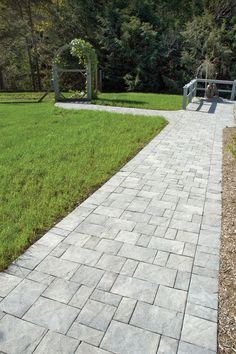 Slate Stone | Antique Gray Standard Finish Paver Walkway