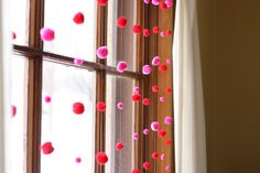 This would be cool with light blue and white for winter! Noodlehead: valentine window garland
