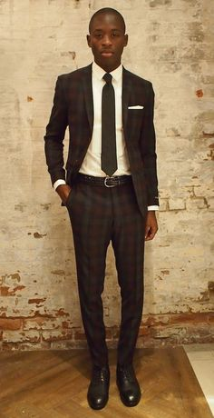 Tiger Of Sweden Evert Wool Cashmere Bold Check Suit: $999 Anderson's Braided Leather Belt: $175 Shop Now Dion Pocket Square: $25