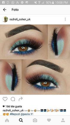 Maquillaje ojos miel