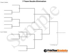 10 Team Double Elimination Printable Tournament Bracket