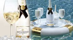 Moët & Chandon Ice Impérial - Champagne to be Enjoyed with Ice Gold Bottles, Moet Chandon, Sparkling Wine, Pinot Noir, Wines, Vodka Bottle, Alcoholic Drinks, Champagne, Bubbles