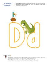 Free kindergarten worksheets to help children learn to identify the letter D, recognize the sound it makes, and write it in uppercase and lowercase