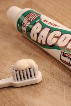 Flavored Toothpaste, Cool Gadgets For Men, Cool Gifts, Bacon, Tableware, Dinnerware, Tablewares, Dishes, Place Settings